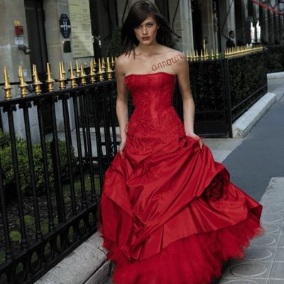 Brautkleider - rotes Hochzeitskleid - Weddingbelle