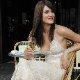 Glamourjurk in champagnekleur