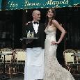 Lange kanten trouwjurk