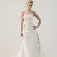 Lange witte bruidsjapon