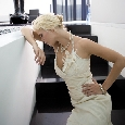 Elegante witte bruidsjurk