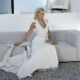 Exclusieve bruidsjurk met aparte halslijn