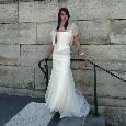 Lange exclusieve trouwjurk