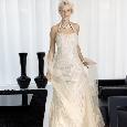 Prachtige lange trouwjurk met halter