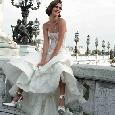 Strapless trouwjurk met wijde rok