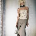 Strapless jurk met gebloemde top