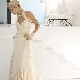 Mooie bruidsjurk met halter