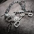 Mooie ketting in zilver met zwart