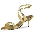 Gouden open schoen