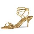 Gouden glamourpump