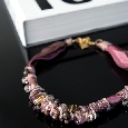 Armband met luxe roze kralen