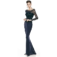 Lange zwarte jurk met glitter