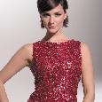Glamorous rode glitterjurk