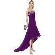 Sexy paarse glamourjurk