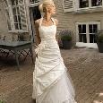 Witte trouwjurk met halter