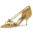 Goudkleurige heels met diamantje